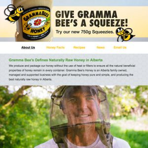 Gramma Bees Honey - Freelance Website Design in Edmonton, Alberta