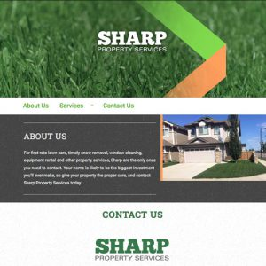 Sharp Property Services - Freelance Website Design in Edmonton, Alberta