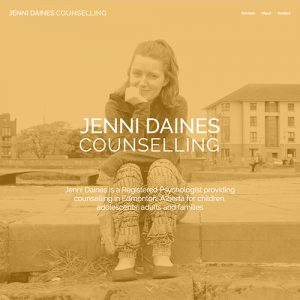 Jenni Daines Counselling - Edmonton Freelance Website Design